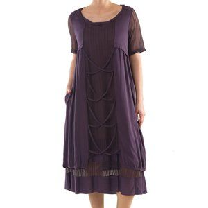 Plus Size Multi Layered Dress - La Mouette
